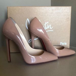Christian Louboutin Pigalle Nude 36.5 120mm (NIB)